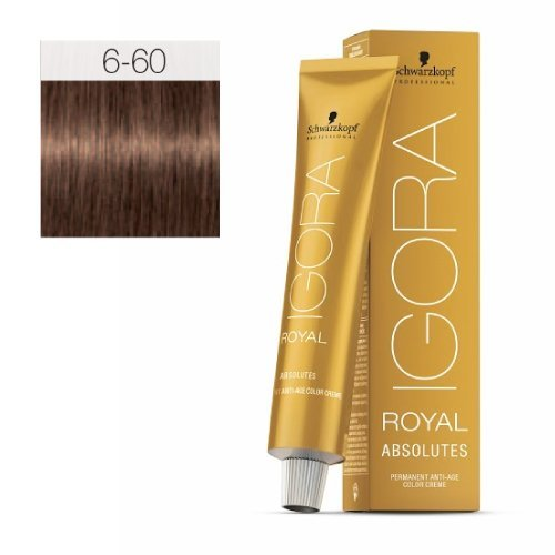 Schwarzkopf Igora Royal Absolutes Permanent Anti-Age Color Creme 6-60 dunkelblond schoko natur, 1er Pack (1 x 60 g)