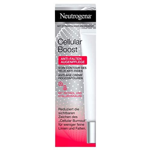 Neutrogena Cellular Boost Anti-Falten Augenpflege, mit Retinol und Hyaluronsäure, 1 x 15 ml