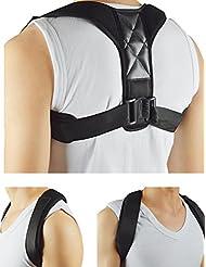 Postura correctiva banda de la clavícula Premium ajustable postura corsé hombro espalda cuello alivio del dolor alineación del hombro apoyo espalda corsé jorobado