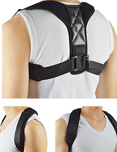 Korrigierende Haltung Schlüsselbein Band Premium einstellbar (mehr geeignet für Frauen und Kinder) Schulter Rücken Nackenschmerzen Relief Rückenstütze Buckel