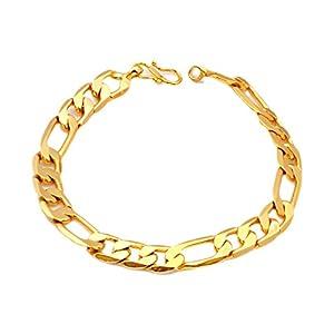 J S IMITATGION JEWELLERY Fancy Micro Gold Plated Polish Bracelet for Men