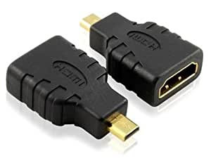 PC Trading® Gold Plated High Speed Female HDMI (Type A) to Male Micro HDMI (Type D) Cable Adapter