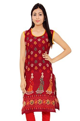 Kurti Studio Women\'s Cotton Dress Material (u237_Maroon)