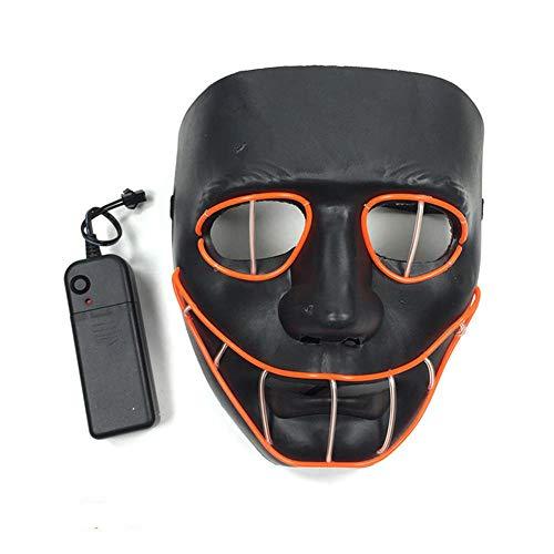 Kostüm Erwachsene Snake Eyes Für - WAZX Máscara Brillante Personalisierte Leuchtmaske EL Kaltlicht Maske Led Licht Maske Halloween Weihnachtsdekoration Cosplay Dj Geburtstag Tanz Karneval Ostern Party Maske Black- Voice Control