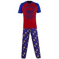 Barcelona F.C. Barcelona Football Club Mens Pyjamas Pants , Multicoloured, M