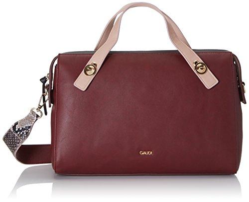 Gaudì Top Handle Bag Linea Angelica, Borsa a Mano Donna, 35 x 23 x 14 cm (W x H x L) Rosso (Bordeaux)