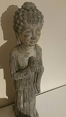 Stehender Buddha Garten Statue Skulptur–Frost Stein Effekt von stone the crows bei Du und dein Garten