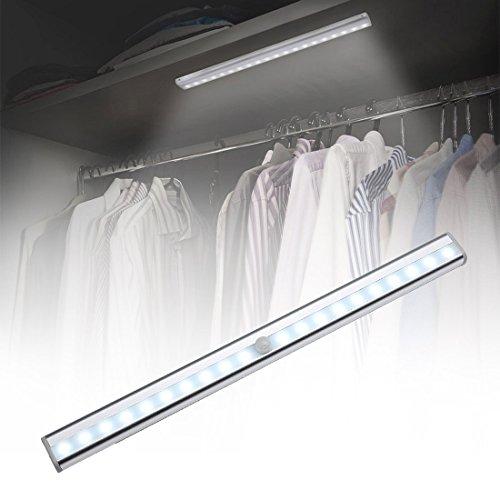 Songlin@yuan Schöne Beleuchtung mit Bewegungsmelder, LED, quadratischer Stil, 20 LEDs für Kabinetten, Sondenreichweite: 3 – 5 m Beleuchtung