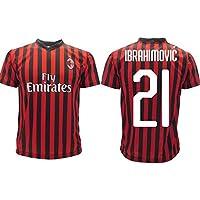 Maglia Ibrahimovic Milan Ufficiale 2019 2020 AC Adulto Bambino Zlatan Ibra Home 21 (S Adulto)