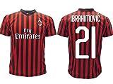 Maglia Ibrahimovic Milan Ufficiale 2019 2020 AC Adulto Bambino Zlatan Ibra Home 21 (M Adulto)