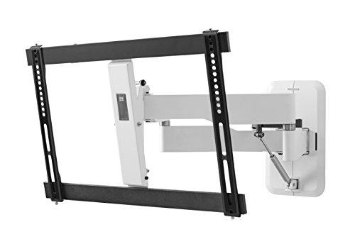 FLUX TV-Wandhalterung von One For All Drehen (120°) und Neigen (15°)- Highend Wandhalterung mit Gasdruckfeder - TV-Bildschirmgröße 32-84 Zoll - Für alle TV-Gerätetypen - Schwarz Weiß - WM6681
