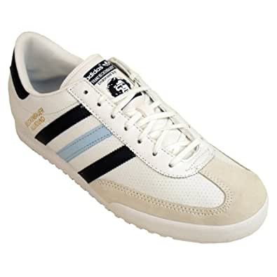 Adidas Originals Beckenbauer Trainer White Blue Leather Trainers Shoe Size UK 10