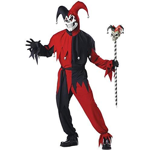 Dress Fancy Joker Kostüm - Kostüm verrückter Joker für Männer S (38/40)