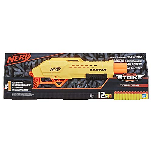 Nerf Tiger DB-2 Alpha Strike Toy Blaster - Includes 12 Official Elite Darts - for Kids, Teens, Adults