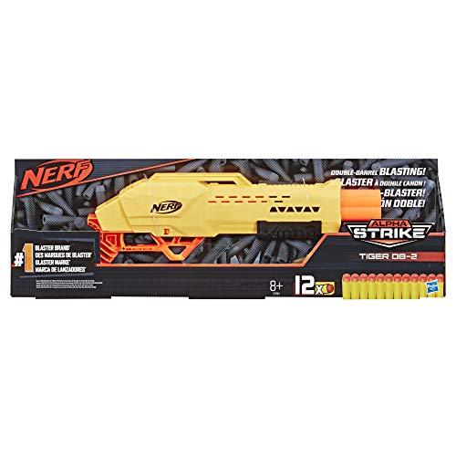 Nerf Tiger DB-2 Alpha Strike Toy Blaster - Includes 12 Official Elite Darts - for Kids, Teens, Adults