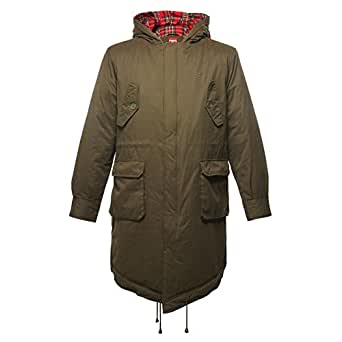 MERC LONDON QUEUE DE POISSON PARKA AVEC CAPOT TOBIAS - CaOMBAT VERT - Small