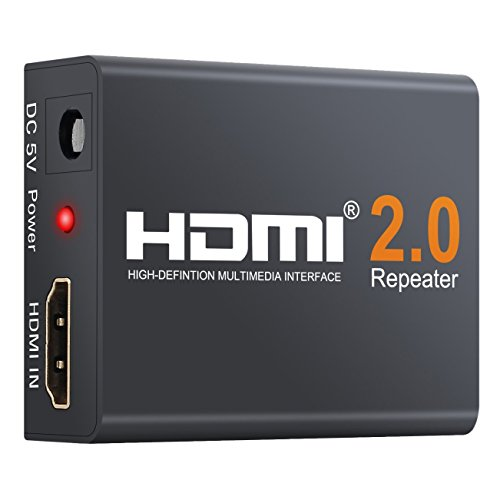 Video-signal-booster (Neoteck 2.0 HDMI Repeater 60M HDMI Verstärker 4K 2160P 3D HDMI 2.0 Extender Booster Adapter Mini Größe Metall Shell für PC DVD Sky HD Box PS3 PS4 Satellite Box und mehr Geräte)