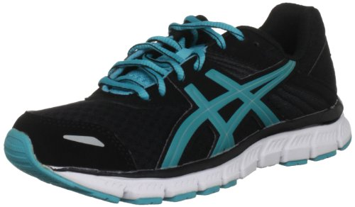 Asics Gel Zaraca Womens Black/Turquoise/White Trainer T2F8N 9040 7.5 UK