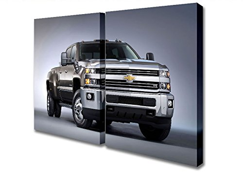 two-panel-chevrolet-silverado-3500-canvas-art-prints-extra-large-32-x-64-inches