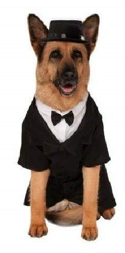 (Fancy Me Haustier Hund Katze tuexdo Hochzeit Schwarzer Anzug Smart Kostüm Kleid Outfit Kleidung extragroß GROß Hund Kleidung S-XXXL - Schwarz, XXXL)