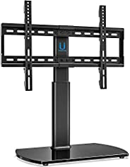 FITUEYES Universal TV Stand - Tabletop Bracket Mount for 32'' to 65'' LCD LED TVs - 80 ° Swive