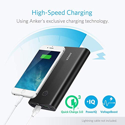 Anker PowerCore+ 26800mAh Premium Externer Akku mit Quick Charge 3.0 (Aluminium 3-Port Powerbank mit hoher Kapazität) [2x schneller wiederaufladbar] - 2