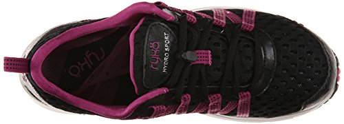 Ryka Hydro Sport 2 Toile Baskets Black/Berry/Chrome Silver