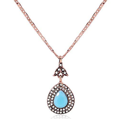ORKST Rose Gold Diamant Harz Ohrringe Halskette Schmuck Set Runde Schlangenkette Party Zubehör für Frauen, Kettenlänge 45 cm Rose Ohrring 18g