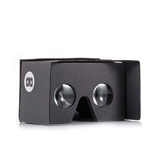v2.0 I AM CARDBOARD VR CARDBOARD KIT - Inspired by Google Cardboard v2 (Black)