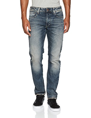 G-STAR RAW Herren Jeans 3301 Slim - Amazon Exclusive Style Blau (Dk Aged 89)