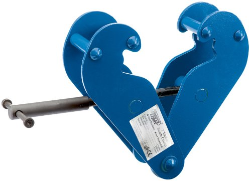 EXPERT 2 TONNE BEAM CLAMP - Expert Quality, for semi-permanent attachment to steel RSJ's to act as lifting point for chain blocks, hoists and lifting tackle. Can also be used for the lifting and transfer of steel beams and as a pulling clamp. Test certificate included. Carton packed. by DP TOOLS -