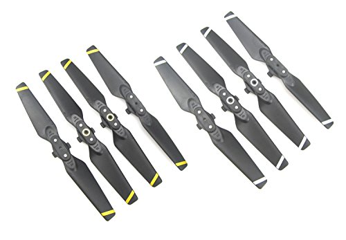 Anbee 8 Parts Propeller Propeller for DJI Spark Drone (White and Yellow Stripe)