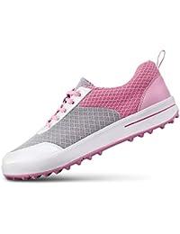 Zapatos de Golf Respirables de Spikeless de Las Señoras, Zapatillas de Deporte Casuales de la Malla Ligera de...