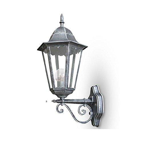 Lanterna a braccio da esterno per arredo giardino cm 20x50 anticato