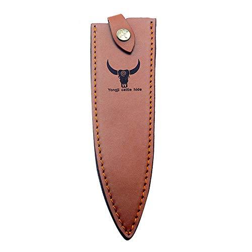 Leder Jagdmesser Scheide Fixed Blade Messer Scheide Tragbare Messer Schutz Jagdmesser Klinge Kantenschutz Messer Abdeckung (S)