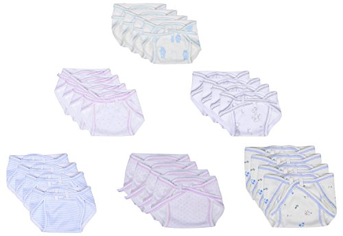 First Kids Step Newborn Hosiery cotton cloth nappies pack of 24pcs (multi)(0-3months)