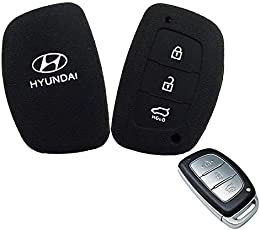 Combo Silicone Key Cover for Hyundai Creta (Black) Sold by H & S Designer Studio (Pack of 2 Pieces)