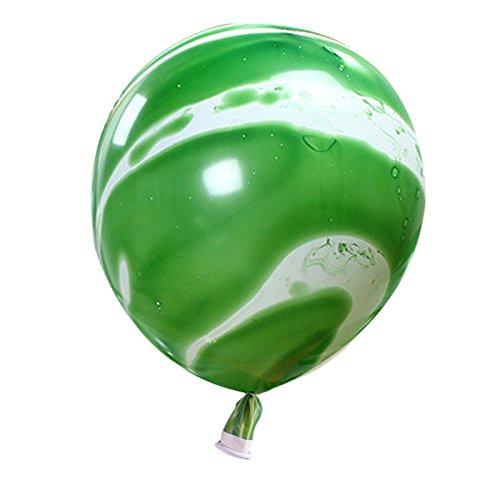Nrpfell 10 stuecke 12 Zoll Neue Weihnachten Marmor Achat Latex Ballon Marblezided Hochzeit Ballon Geburtstag Party Decor Latex Luftballons Fuer Baby Dusche Kinder Party Gruen