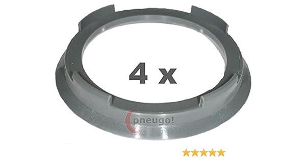 4 x Zentrierringe Kunststoff 73.1mm auf 60.1mm dunkelgrau