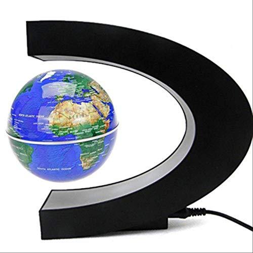 TVKL Luce notturna Magnetico Levitation Globe Night Light Floating World Map Ball Lampada Cool Illuminazione Ufficio Decorazione Terrestre Globe lampada Tappo UE Forma blu