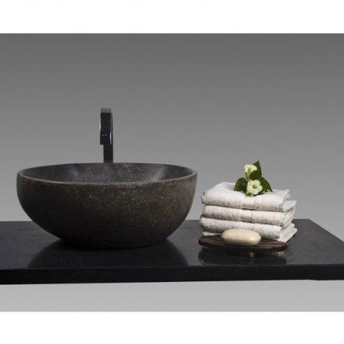 Wohnfreuden Stein - Waschbecken Waschbecken aus Stein 40 cm poliert für Naturstein Waschtisch | Versandkostenfrei ✓