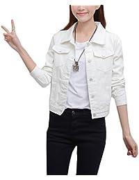 a297fbef9450 Mode Beiläufig Damen Mantel Jacke Denim Jacket Trench Parka Jacken  Einfarbig Lange Ärmel Jeans-Jacke