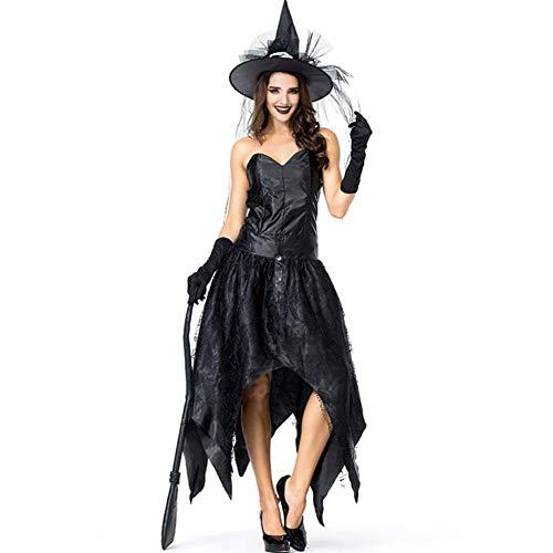 ASDF Halloween Party Party Kostüm schwarz Tube Top Spinnennetz Hexe dunkle Königin - Dunkle Königin Kostüm Mädchen