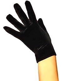Samthandschuhe kurze Handschuhe in Schwarz