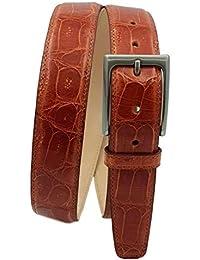 ESPERANTO ceinture en queue de crocodile hauteur 3,5 cm avec boucle sans  nickel et c4b21307826