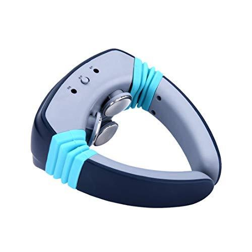 SHENGY Elektrischer Puls Akupunktur-Nack-Massage, Wireless-Nackenmassagegeräte Die Fernbedienung steuert 15 Geschwindigkeiten und Komfortheizen,Blue (Brookstone Massage-stuhl)