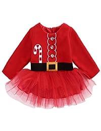 LQQSTORE Natale Abitini Natale Gonne Natale Mini Vestito Natale Tutu  Vestiti Ragazze Bambini Natale Albero Cosplay 02b1e13f30e