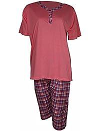 Damen Shorty dünner, sommerlicher Zweiteiler Pyjama in 4 verschiedenen Farben