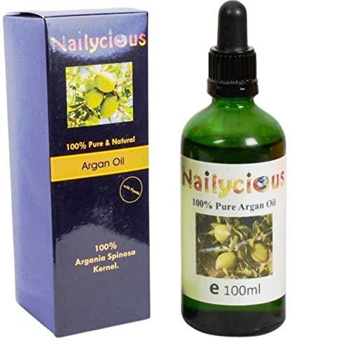 Huile d'Argan pure 100% naturelle 100% pour le corps, le visage et cheveux 100 ml Nailycious
