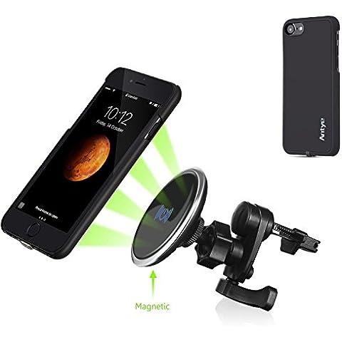 Air Vent magnetica Montatura da auto, Antye® senza fili Qi standard Air Vent magnetica montaggio per auto culla del supporto e caricatore per iPhone 7 (2016)